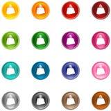 Sacchetto delle icone Immagine Stock