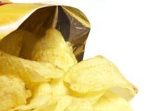 Sacchetto delle patatine fritte Immagini Stock
