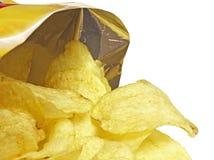 Sacchetto delle patatine fritte Fotografie Stock