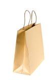 Sacchetto di acquisto di carta su bianco fotografia stock libera da diritti