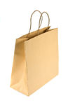 Sacchetto di acquisto di carta su bianco Immagine Stock