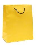 Sacchetto di acquisto giallo Fotografie Stock