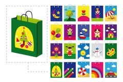 Sacchetto di acquisto per i bambini Fotografie Stock Libere da Diritti