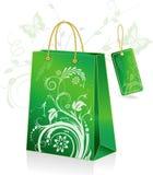 Sacchetto di acquisto verde illustrazione di stock
