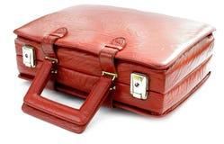 Sacchetto di cuoio rosso dell'annata fotografia stock libera da diritti