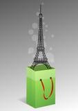 Sacchetto di Eiffel Fotografia Stock