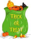 Sacchetto di Halloween cndy Fotografia Stock Libera da Diritti