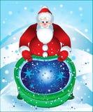 Sacchetto di magia del Babbo Natale Immagine Stock Libera da Diritti