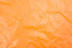 Sacchetto di plastica arancio Fotografie Stock Libere da Diritti