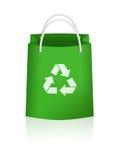 Sacchetto di riciclaggio verde fotografie stock