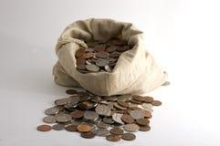 Sacchetto di soldi Fotografia Stock Libera da Diritti