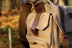 Sacchetto di spalla della tela di canapa B immagini stock libere da diritti