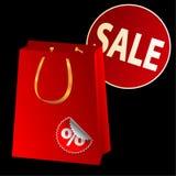 Sacchetto di vendita Fotografie Stock