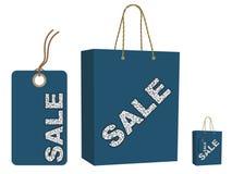 Sacchetto di vendita ed insieme della modifica royalty illustrazione gratis