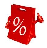 Sacchetto di vendite con il pollice in su Immagine Stock Libera da Diritti