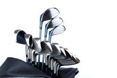 Sacchetto e randelli di golf Fotografia Stock