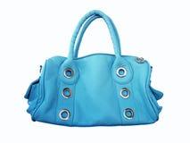 Sacchetto femminile blu Fotografia Stock