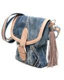 Sacchetto femminile dei jeans Fotografia Stock Libera da Diritti