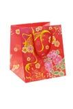 Sacchetto floreale cinese del regalo del reticolo Immagine Stock
