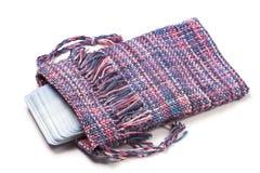 Sacchetto Handwoven di Tarot Fotografia Stock