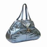 Sacchetto lucido blu Fotografia Stock