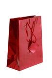 Sacchetto lucido rosso del regalo Fotografia Stock Libera da Diritti