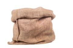 Sacchetto o sacco vuoto della tela da imballaggio Fotografia Stock