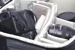 Sacchetto portatile della macchina fotografica immagini stock libere da diritti