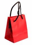 Sacchetto rosso 2 del regalo Fotografie Stock