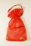 Sacchetto rosso Fotografia Stock Libera da Diritti