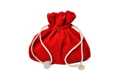 Sacchetto rosso con i regali Fotografia Stock