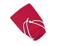 Sacchetto rosso del cristallo del velluto di cotone Fotografia Stock Libera da Diritti
