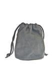 Sacchetto, sacchetto nero su priorità bassa bianca Fotografia Stock