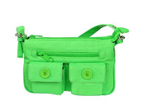 Sacchetto verde Fotografie Stock