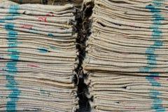 sacchi della canapa immagini stock libere da diritti