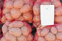 Sacchi della patata del mercato degli agricoltori Immagine Stock Libera da Diritti