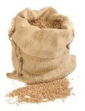 Sacco dei granuli del frumento Fotografia Stock Libera da Diritti