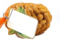 Sacco delle arachidi isolate Fotografia Stock