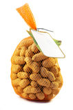 Sacco delle arachidi isolate Fotografia Stock Libera da Diritti