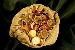 Sacco delle monete Fotografia Stock Libera da Diritti