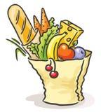 Sacco di carta con alimento differente Fotografia Stock Libera da Diritti