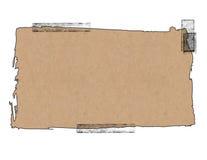 Sacco di carta con nastro adesivo Fotografia Stock