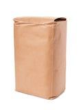 Sacco di carta del mestiere marrone in bianco Fotografia Stock