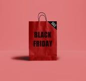 Sacco di carta di Black Friday Fotografie Stock Libere da Diritti