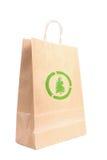 Sacco di carta riciclabile Fotografia Stock