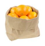 Sacco di carta riempito di piccole arance immagine stock libera da diritti
