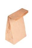 Sacco di carta (sacchetto del pranzo) isolato Fotografie Stock