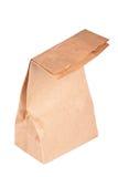 Sacco di carta (sacchetto del pranzo) isolato Immagine Stock Libera da Diritti