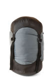 Sacco a pelo in sacco nero e grigio di compressione Fotografie Stock Libere da Diritti