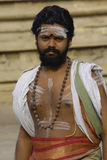 Sacerdote al tempiale Madura di Menakshi Fotografia Stock
